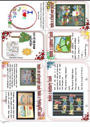 English Worksheet: End of the year activities