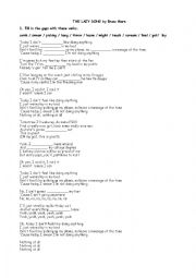 English Worksheet: The Lazy Song (by Bruno Mars)