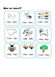 English Worksheets: One or More?