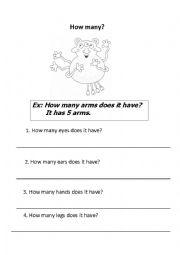 English Worksheets: How many...