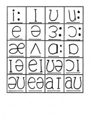 Phonemic Chart Vowels and Diphthongs matching pairs game