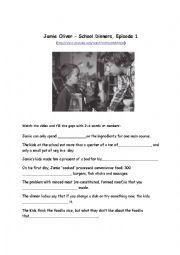 English Worksheet: Jamie Oliver�s school dinners