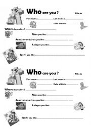 English Worksheets: Funny way to introduce oneself