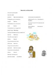 English Worksheets: The Egyptians