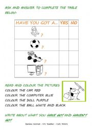 English Worksheets: Have you got?