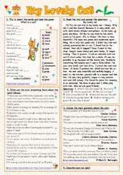 English Worksheets: My Lovely Cat