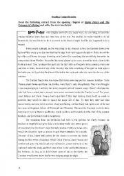 English Worksheets: Harry Potter (and the Prisioner of Azkaban)