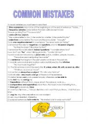 English Worksheets: common mistakes