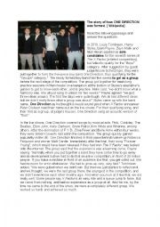 English Worksheets: How ONE DIRECTION was formed