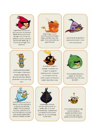 English Worksheets: Angry Birds (1/2)