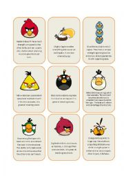 English Worksheet: Angry Birds (2/2)
