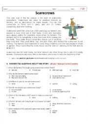 English Worksheets: Scarecrows