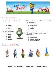 English Worksheets: GNOMEO AND JULIETE