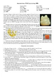 English Worksheet: Shou Mountain Stones in China: Beautiful Carvings and Seals