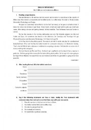 English Worksheets: Worksheet - Me and the professional world