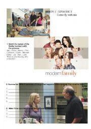 English Worksheet: Modern Family Lesson