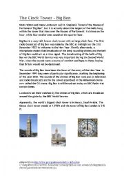 English Worksheet: Big Ben - reading1