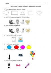 english worksheets movie activity mickey mouse club house. Black Bedroom Furniture Sets. Home Design Ideas