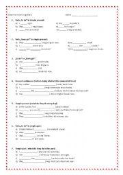 English worksheets: grammar exam in grade5