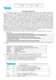 English Worksheet: The Law