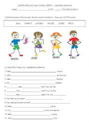 English Worksheet: has got  affirmative, negative, question