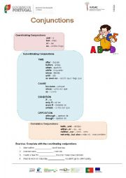 Conjunctions worksheets year 34