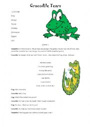 English Worksheet: Crocodile Tears PLAY SCRIPT/ROLE PLAY