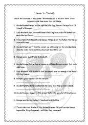 Worksheets Macbeth Worksheets english worksheets themes in macbeth worksheet macbeth