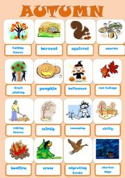 English Worksheet: AUTUMN PICTIONARY