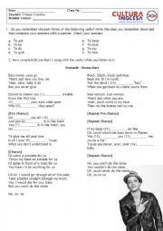 English Worksheet: Bruno Mars - Grenade