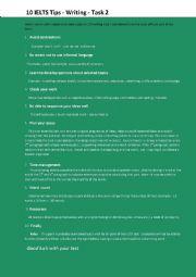 English Worksheet: IELTS Writing Tips Task 2