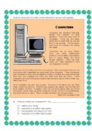 English Worksheet: Technology  & computers +6