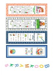 English Worksheet: Bookmarks - The magic world of books