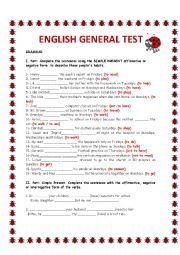 ENGLISH GENERAL TEST
