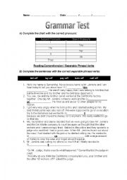 Grammar Test: Subject and Object Pronouns, Third Conditional,