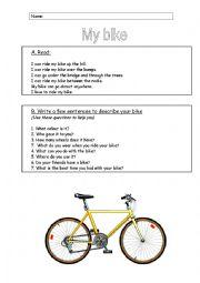 English Worksheet: My bike
