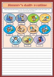 English Worksheets: Jimmy�s daily routine