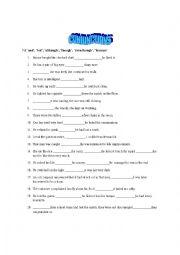 English Worksheet: Conjunctions