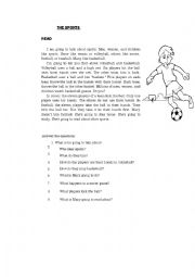 English Worksheet: its a reading about the soccer.