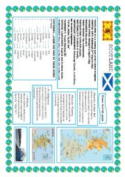 English Worksheet: Scotland study sheet