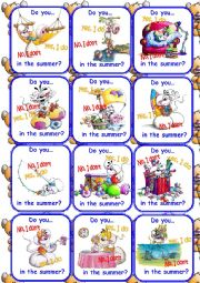 English Worksheet: Teddy cards Set 2/3 Go fish Game!
