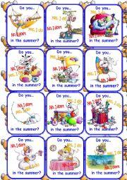 English Worksheet: Teddy cards Set 2/3 Go fish Game!