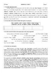 9 form : grammar and vocabulary