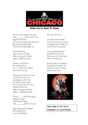 English Worksheet: When you�re good to Mama - Chicago Musical