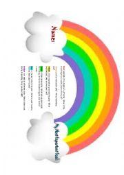 English Worksheet: Rainbow Icebreaker