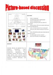 English Worksheet: Picture-based discussion stereotypes