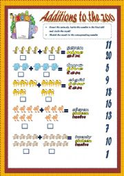 English Worksheets: additions to the zoo