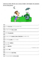 English Worksheets: Asking questions