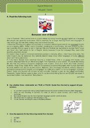 European view of English