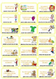 English Worksheet: Make the question Card  game (set 1)